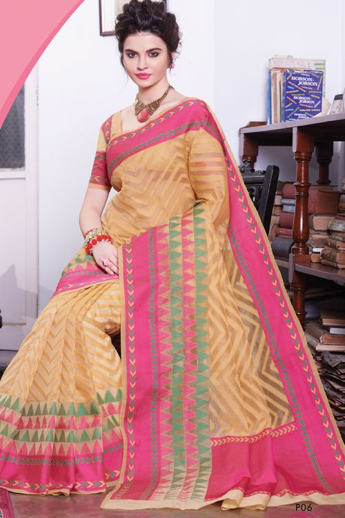 Handloom Resham woven with rani patch border  sarees RP29-16006 (With blouse)