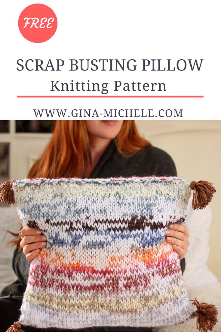 916 best knitting images on pinterest cotton fiber art and knitting free knitting pattern for this scrap busting pillow knit it with leftover yarn bankloansurffo Gallery