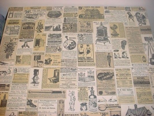 Wendy's old table tops! I loved sitting and reading all the old Victorian era ads. Now their tables are just boring.