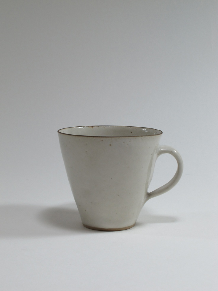 Lucie Rie, cup (from a larger coffee service) stoneware, 1950s, England. Collection of Auckland Museum K5488
