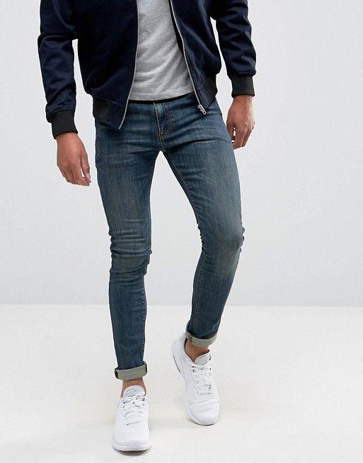 ASOS DESIGN | ASOS DESIGN super skinny jeans in dark blue wash