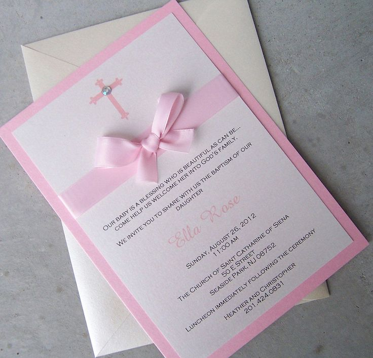 the 25+ best baptism invitations ideas on pinterest | baptism, Birthday invitations