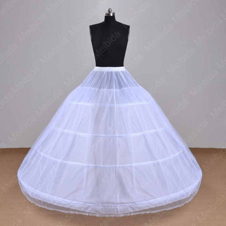 Find More Petticoats Information about Ball Gown 4 Hoops Petticoat White Long Luxury Puffy Underskirt Crinoline Edge Wedding Accessories Girls Party Gown anagua,High Quality Petticoats from Meeting Mr White Wedding Custom Store on Aliexpress.com