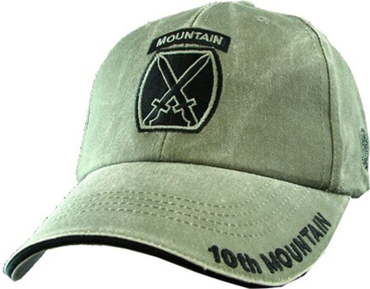 10th Mountain Division Embroidered Baseball Cap Features: - Embroidered lettering and badge - OD Green - 100% cotton - Adjustable