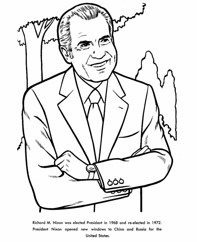 Richard nixon coloring page cold war era 1950s 1980s for Cold war coloring pages