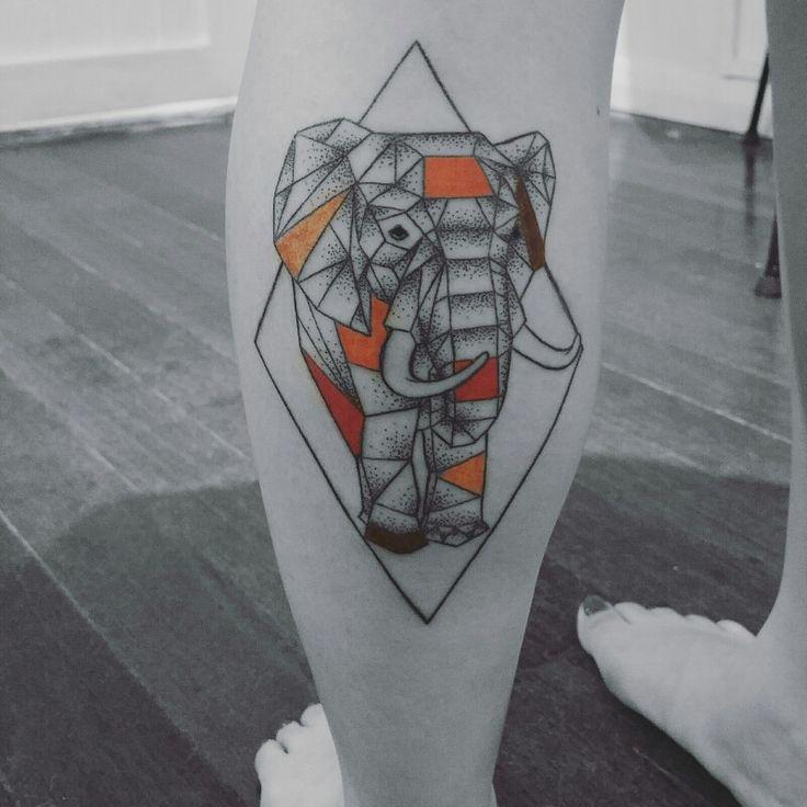 Elephant tattoo by Rox (Vamp Body Art)