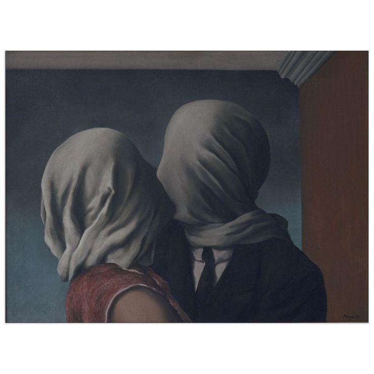 MAGRITTE - The Lovers 80x60 cm #artprints #interior #design #art #print #Magritte  Scopri Descrizione e Prezzo http://www.artopweb.com/EC21692