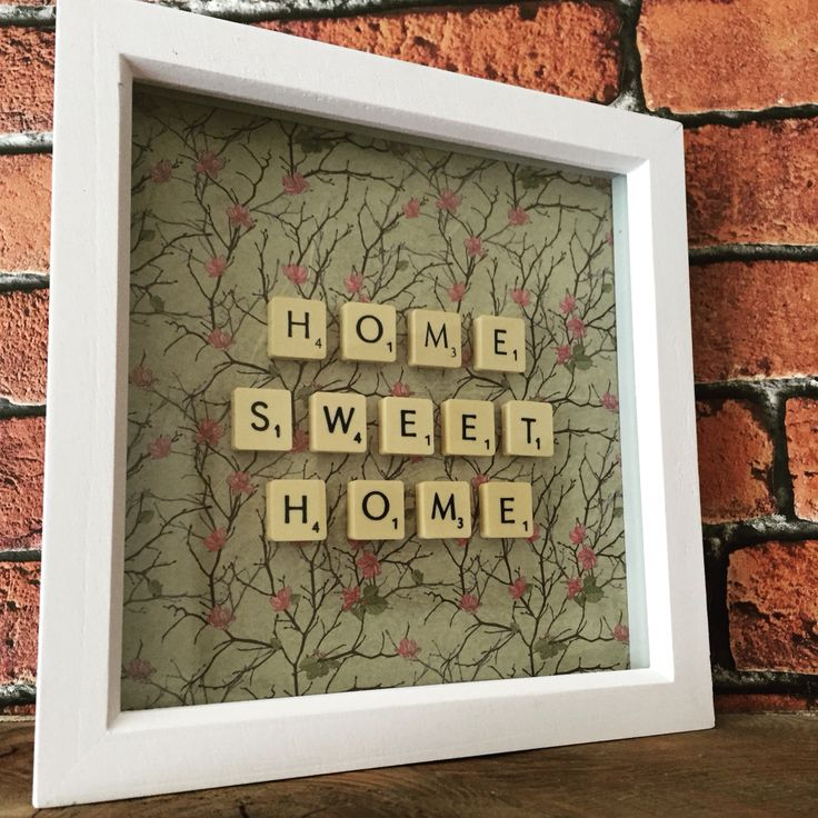 The crafty bugger - home sweet home - scrabble frame- the crafty bugger
