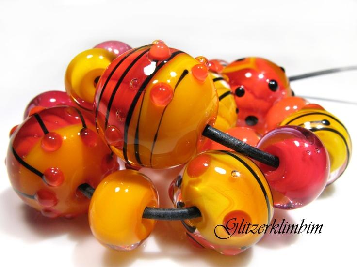 http://www.glitzerklimbim.blogspot.de/    Perlen von Glitzerklimbim, Glasperlen, Lampwork Beads