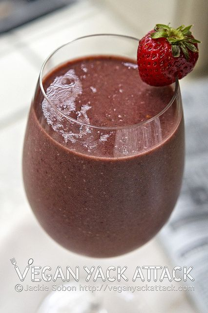 Banana Berry Smoothie by Vegan Yack Attack! Perfect for that simple ...