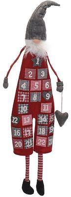 Father Christmas Advent Calendar Red Felt with Useable Pockets for Daily Treats