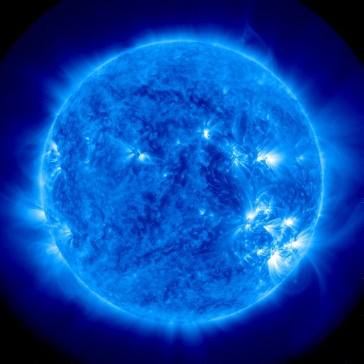 Nasa photo June 17th a Blue Sun for father's day.