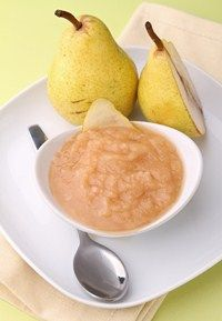 Pear and rice puree - Baby recipes - MadeForMums