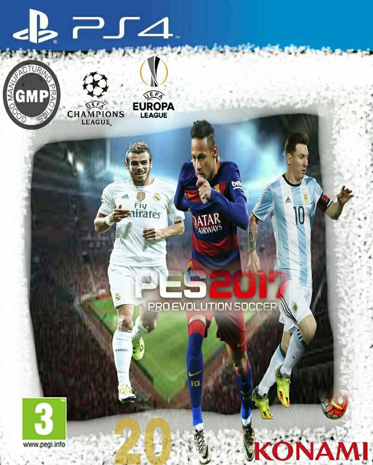 PIcsArt Pes 2017 Covers Bale and Neymar Junior and Messi