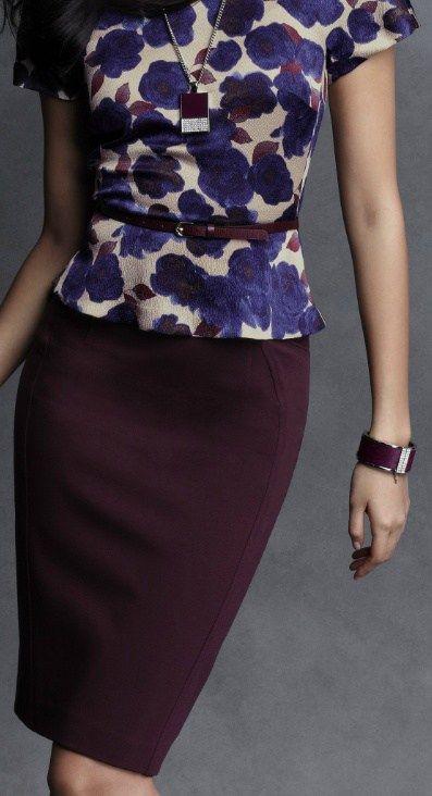 Marsala pencil skirt