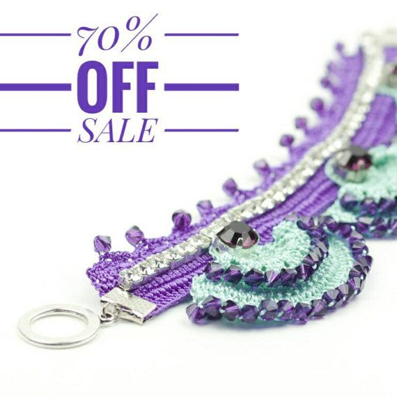 70% OFF Bracelet Handmade Bohemian Crochet Rhinestone Crystal