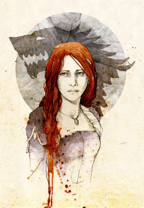 Sansa Stark 1 by Elia Mervi (www.elia-illustration.com)