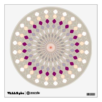 #Mandala Inspired - Warm Colors Magenta Highlights Wall Sticker - customized designs custom gift ideas