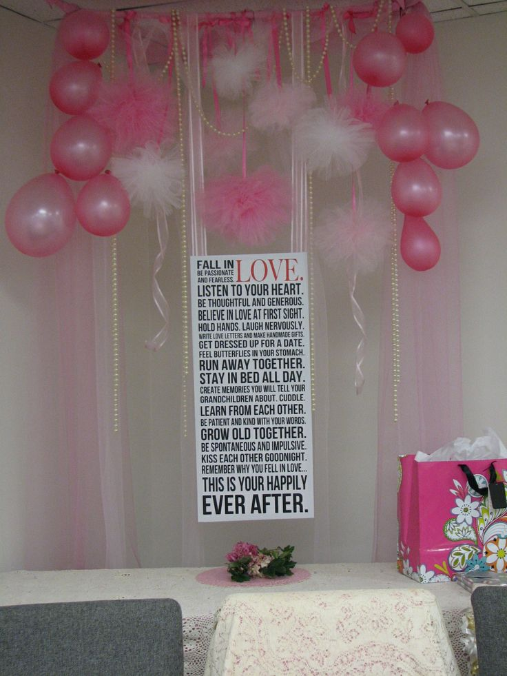 Pinterest inspired bridal shower decorationsabove the for Wedding shower decor