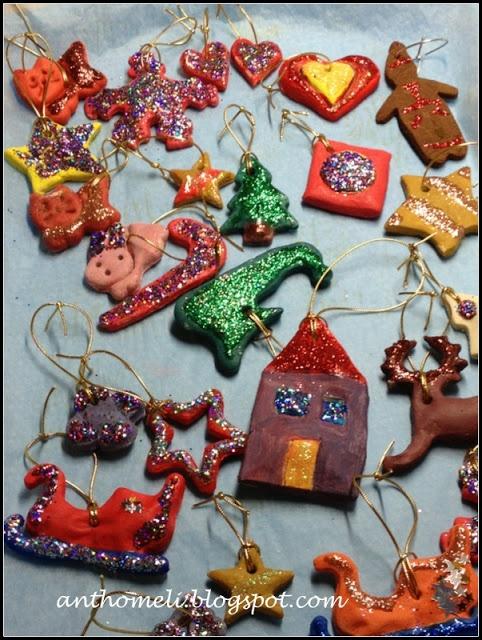 DIY  christmas ornamentsanthomeli.blogspot.com: Στολίδια αλατοζύμης alla Kathy & Maria- 7 μέρες ως τα Χριστούγεννα!