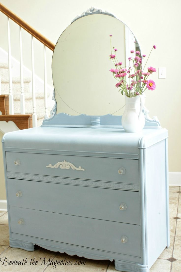 Beneath the Magnolias: Waterfall Dresser in Louis Blue