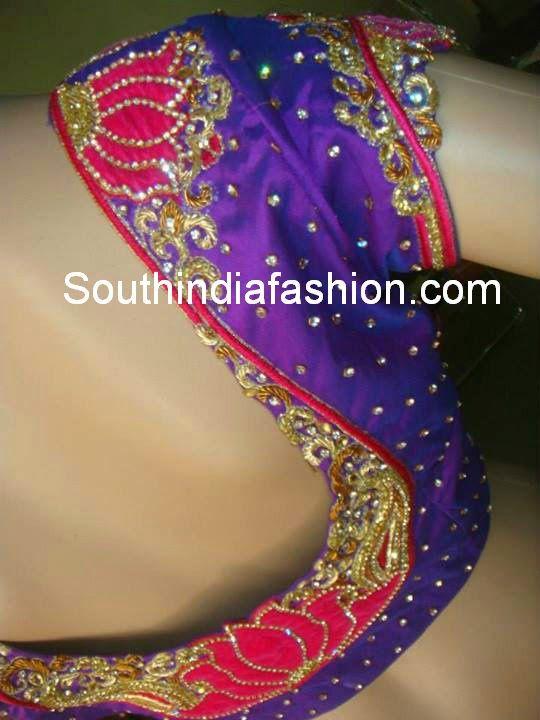 pattu sari blouse models
