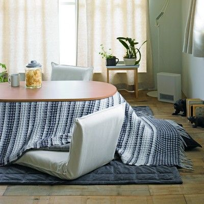 Cotton Calico Floor Chair Cover Small Ecru - Sofas/Living - Furniture / Interior