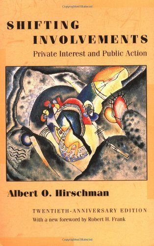 Shifting Involvements: Private Interest and Public Action (Eliot Janeway Lectures on Historical Economics in Honor of J) by Albert O. Hirschman. $27.95. Publisher: Princeton University Press; 20 edition (July 1, 2012). Publication: July 1, 2012. Author: Albert O. Hirschman. Edition - 20