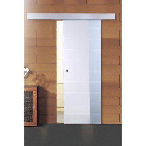 Porte coulissante verre trempé Floride ARTENS, 204 x 83 cm