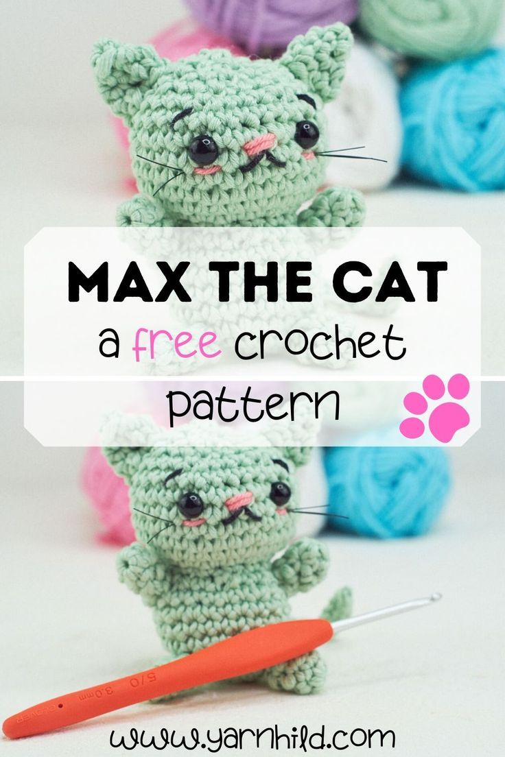 Crochet Quick Easy Beginner Cute Amigurumi Kitty Cat DIY Tutorial ...   1104x736