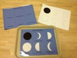 Science - Phases of the moon cutting and gluing