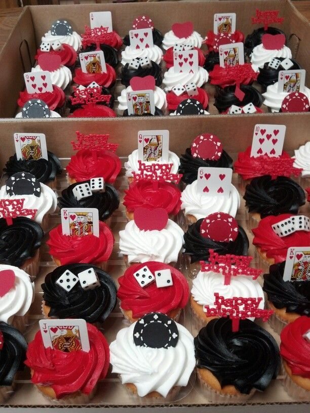 Casino cupcakes Casino party decoration ideas. Fathers Day Casino Party