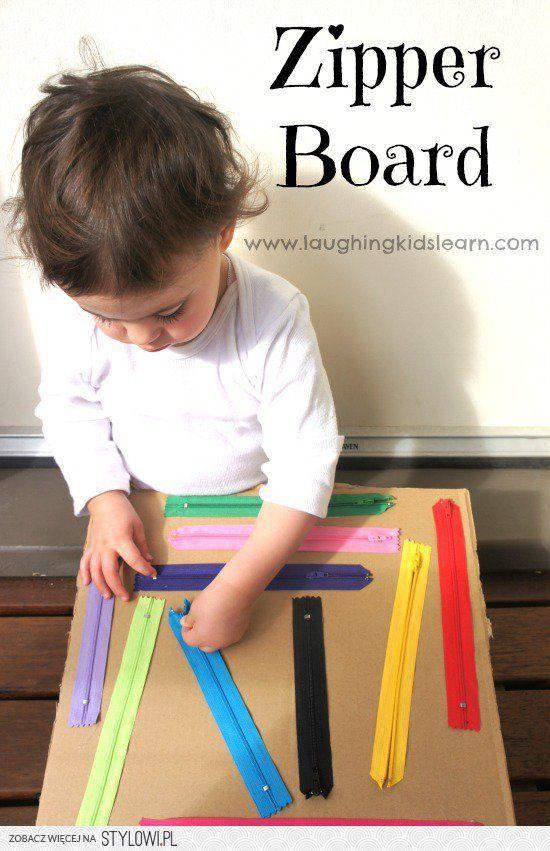 DIY zipper board for kids - Laughing Kids Learn na Stylowi.pl