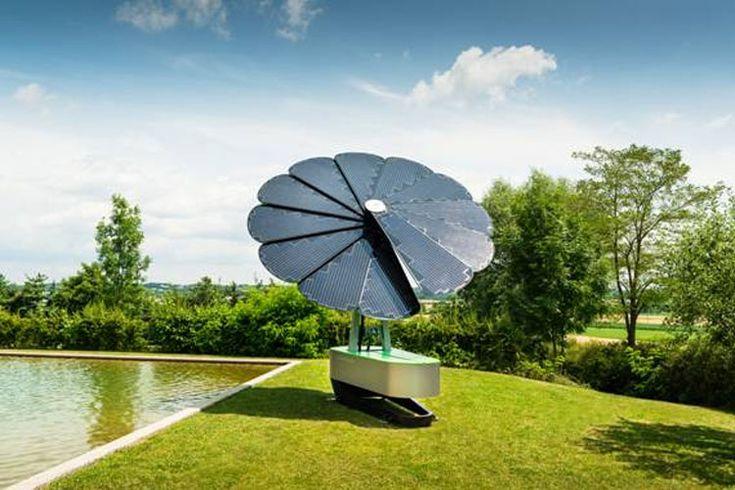 het feit dat je in de tuin kan zitten onder een parasol die zo'n groot mogelijk oppervlakte van de zon wegneemt om er energie van te maken en zodat jij in de schaduw kunt zitten vind ik ideaal.