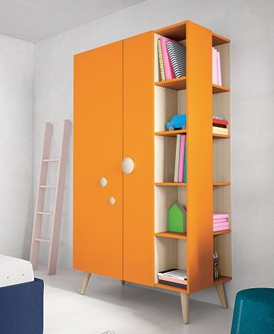 Battistella Woody wardrobe with open shelves. So many colour combinations to…