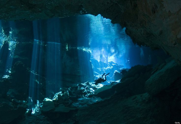Scuba diving in Yucatan Cenotes can be recommended. Cenotes are natural sinkholes found throughout Mexico that form when the roof of an underground cavern collapses.