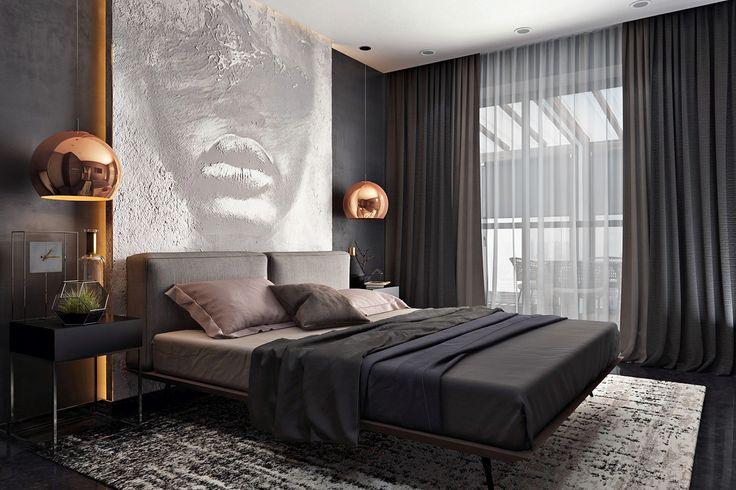 Painel pintura Cabeceira cama