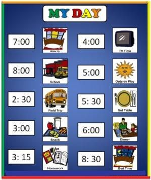 SIMPLE example of a Visual Schedule for young students with Autism / ASD  Worth a look!  Great blog!