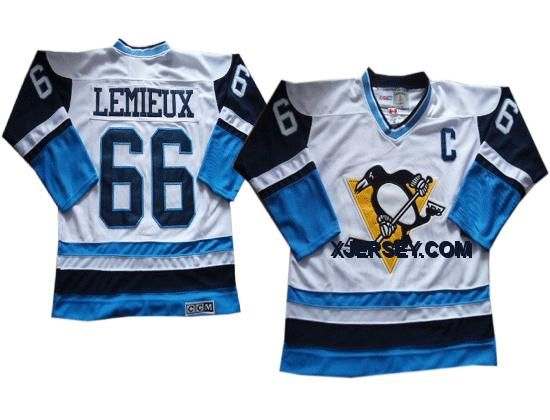 http://www.xjersey.com/pittsburgh-penguins-66-lemieux-whiteblue-throwback-jerseys.html PITTSBURGH PENGUINS 66 LEMIEUX WHITE&BLUE THROWBACK JERSEYS Only $46.00 , Free Shipping!