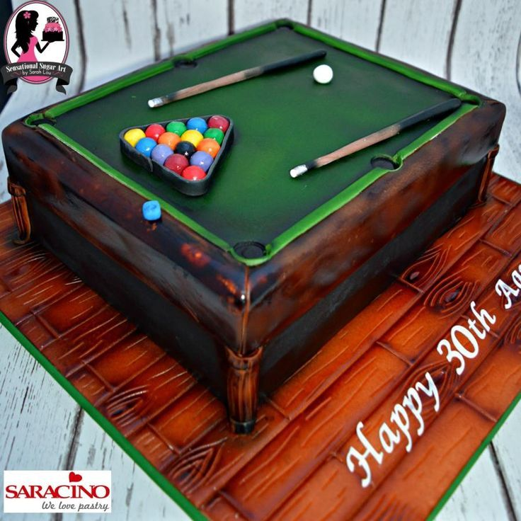 16 Best Snooker Table Cake Images On Pinterest