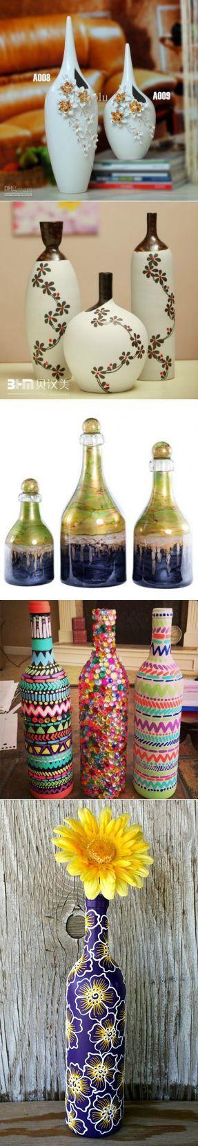 (+1) тема - Декоративные бутылки и вазы | РУКОДЕЛИЕ | Роспись по стеклу | Постила
