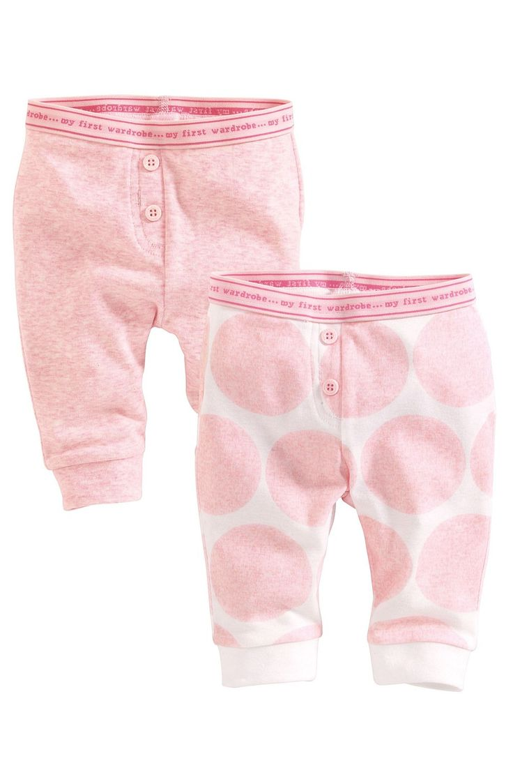 Newborn Pants - Baby Pants and Infantwear - Next Pretty Joggers Two Pack - EziBuy Australia