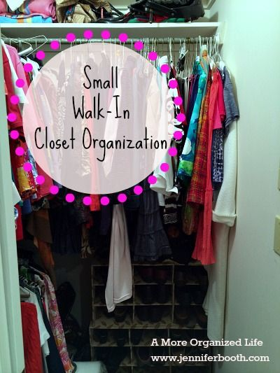 Small walk in closet organization closet organization for Organized walk in closet