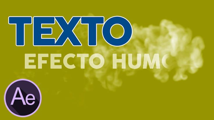 Texto Humo After Effects Tutorial