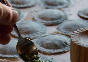 Nettle ravioli from River Cottage Hedgerow Handbook