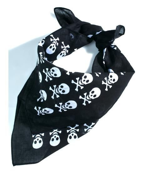 Team Dread Bandana will send 'em to tha grave, babe! This sikk bandana features a black construction with skull graphics all over that ya can tie up in yer hair or wrap around yer neck.