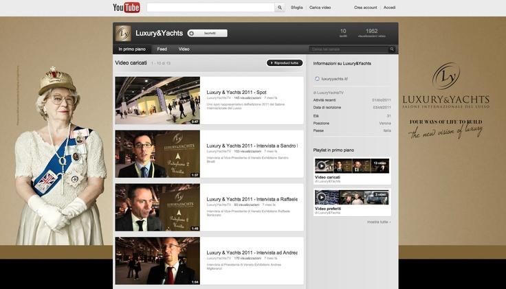 Personalizzazione del canale #Youtube di #Luxury & #Yachts, Salone internazionale del #lusso