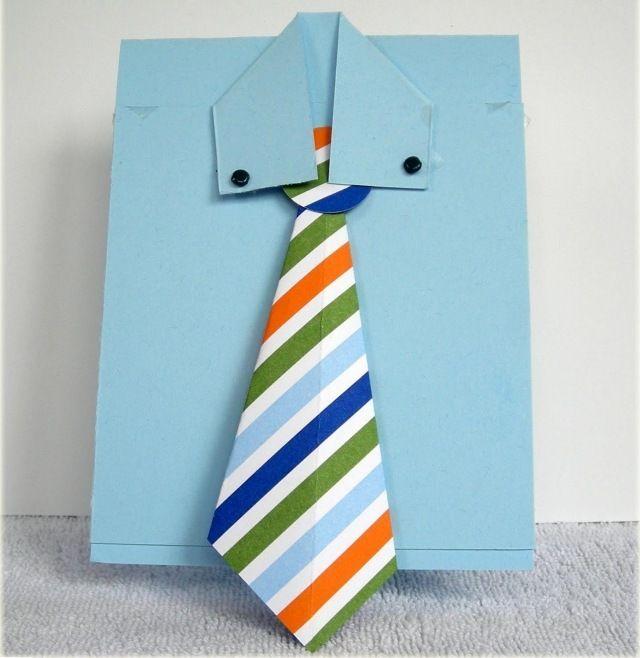 Vatertag originell kreativ krawatte papier selber machen krawatten dyi geschenke - Geschenk vatertag basteln ...