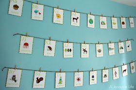 A Jennuine Life: Nursery Prep: Alphabet Wall Art
