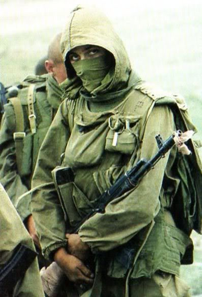 A member of an undetermined Spets'naz unit in Chechnya, Circa 1997
